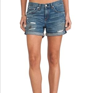 Rag & Bone Boyfriend shorts in trestles wash 25